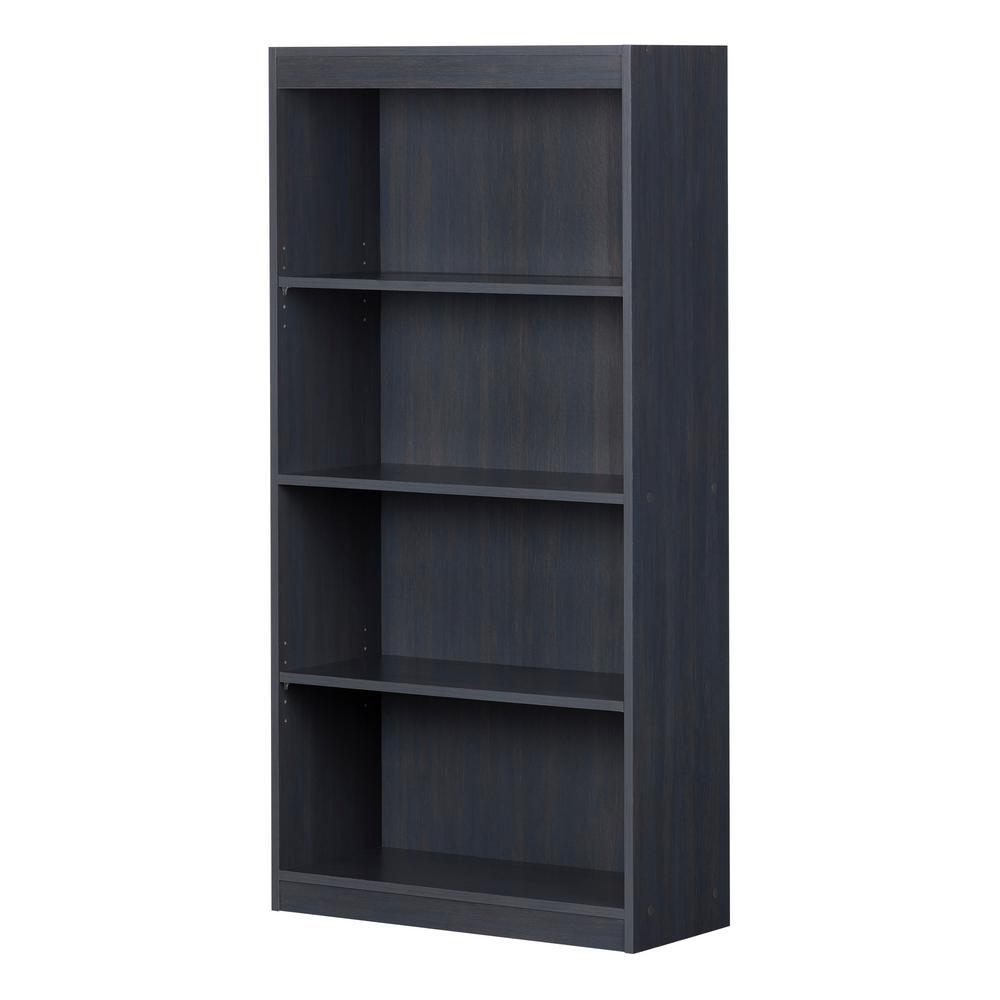 Axess Blueberry 4-Shelf Bookcase