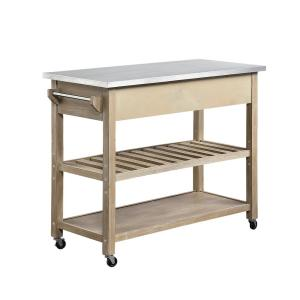 4D Concepts Alex Wood and Metal Kitchen Island Cart in ...