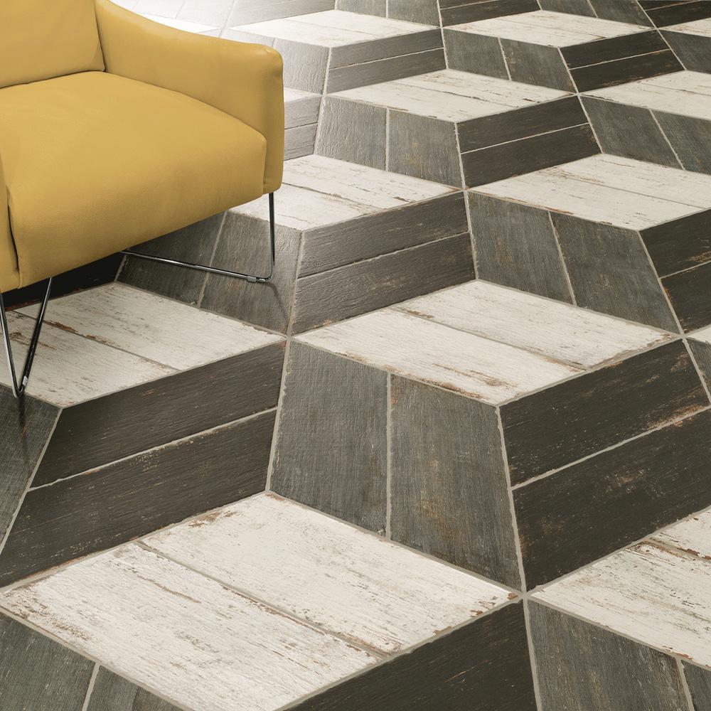 Retro Naveta Cendra 7-1/8 in. x 16-3/8 in. Porcelain Floor and Wall Tile (11.07 sq. ft. / case)
