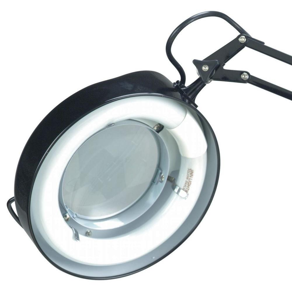 Illumine Designer 1-Light Black Magnifier Lamp