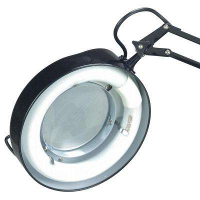 Designer 1-Light Black Magnifier Lamp
