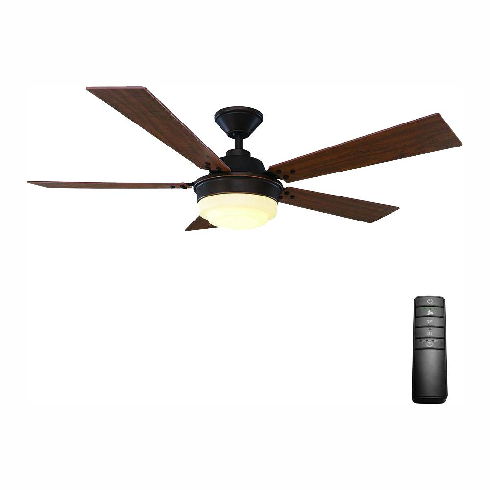 Home Decorators Collection Emswell 52 in. LED Indoor Mediterranean Bronze Ceiling Fan with Light Kit and Remote Control
