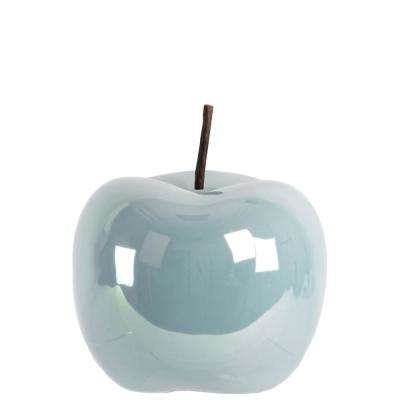 6.25 in. H Applepear Decorative Figurine in Blue Finish
