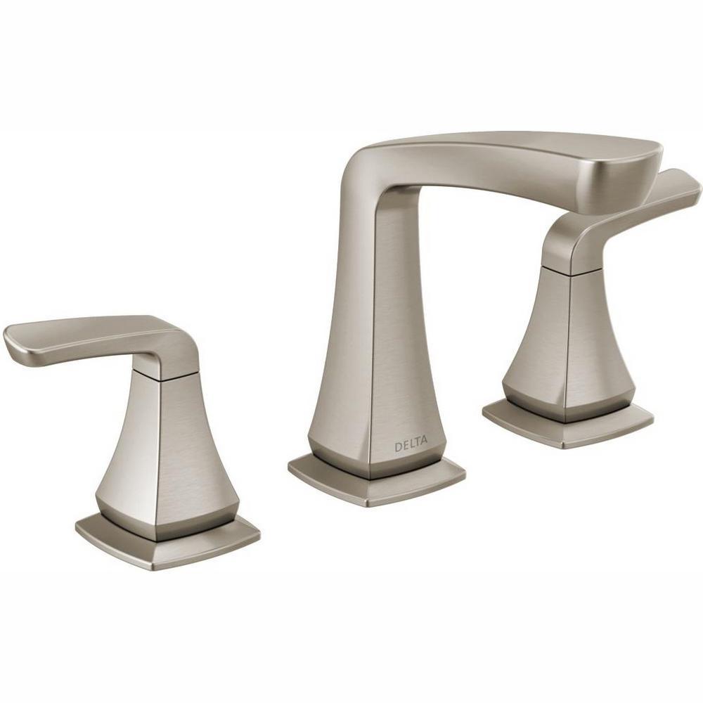 Delta Vesna 8 in. Widespread 2-Handle Bathroom Faucet in SpotShield Brushed  Nickel