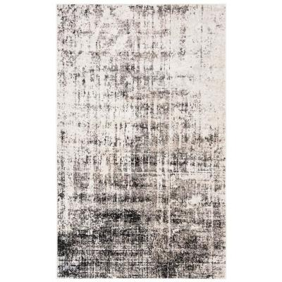 Adirondack Silver/Black 9 ft. x 12 ft. Area Rug