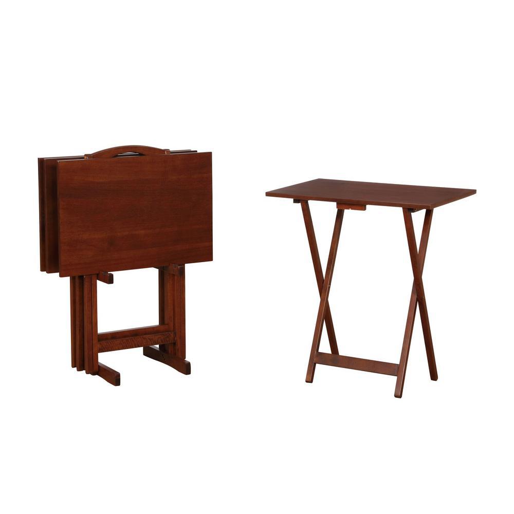 Hazelnut Tray Tables
