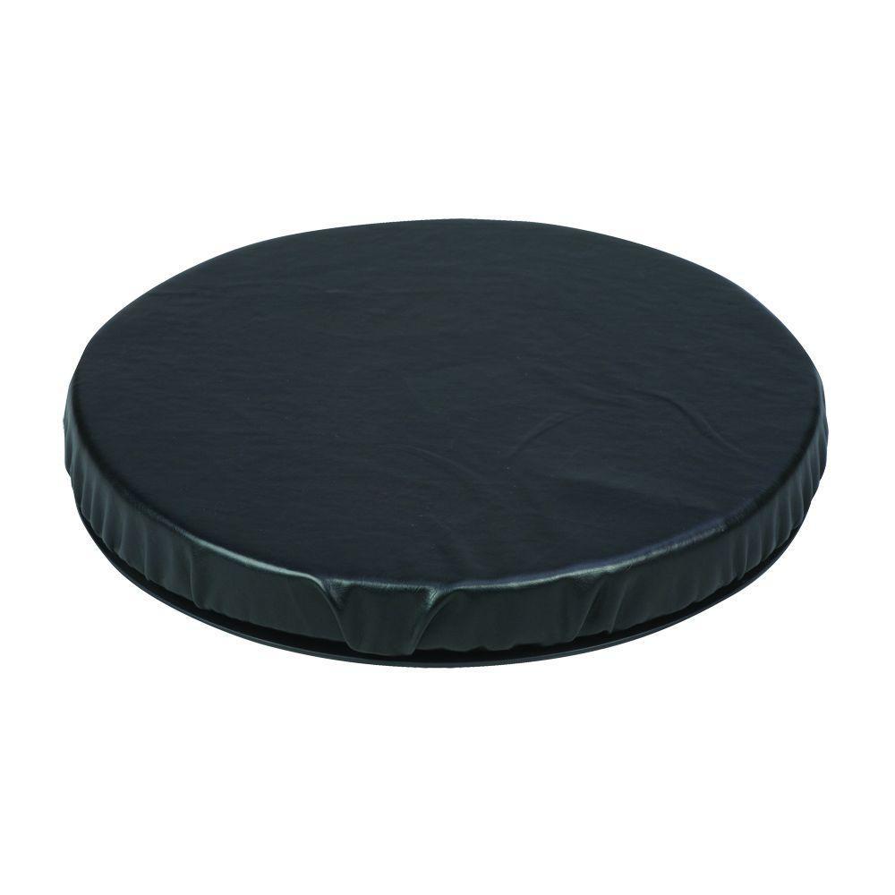 Deluxe Swivel Seat Cushion in Black Leatherette