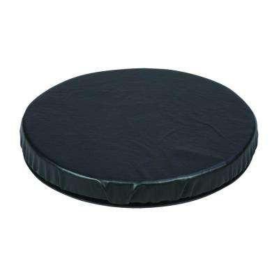 Deluxe Swivel Seat Cushion in Black Leatherette