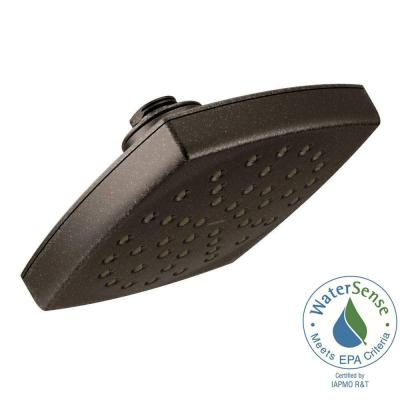Voss 1-Spray Eco-Performance 6 in. Single Wall Mount Fixed Shower Head in Oil Rubbed Bronze