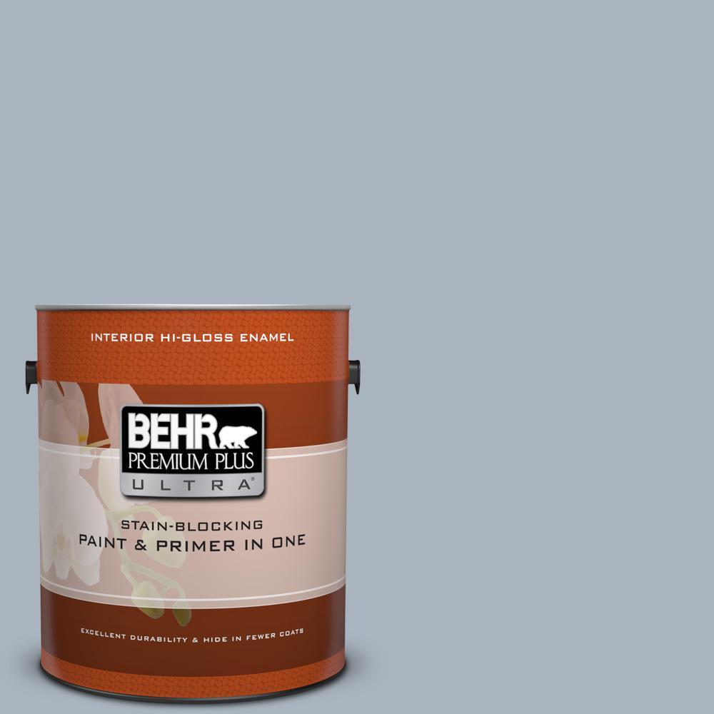1 gal. #MQ5-23 Intercoastal Gray Hi-Gloss Enamel Interior Paint and Primer