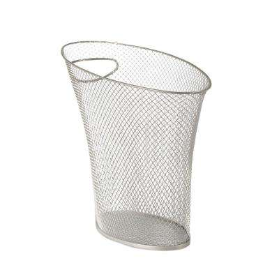 Skinny 2 gal. Mesh Nickel Waste Basket