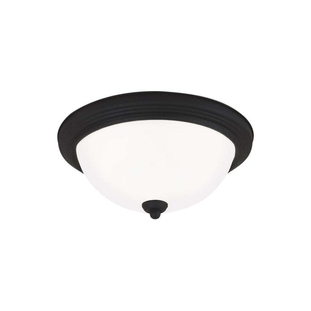 Sea Gull Lighting Ceiling Flush Mount Collection 28-Watt Blacksmith Integrated LED Flush Mount