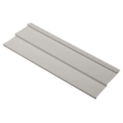 Dimensions Double 4 in. x 24 in. Vinyl Siding Sample in Pewter