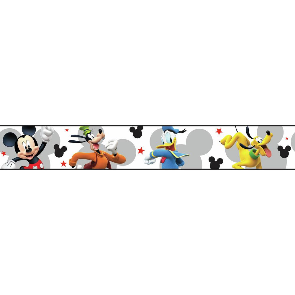 Border Design Disney Character : York wallcoverings disney kids iii mickey mouse