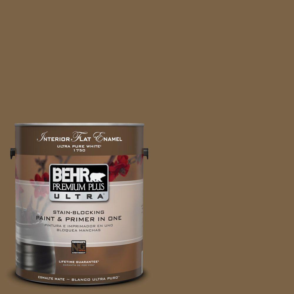 BEHR Premium Plus Ultra 1-Gal. #UL140-22 Arts And Crafts Interior Flat Enamel Paint