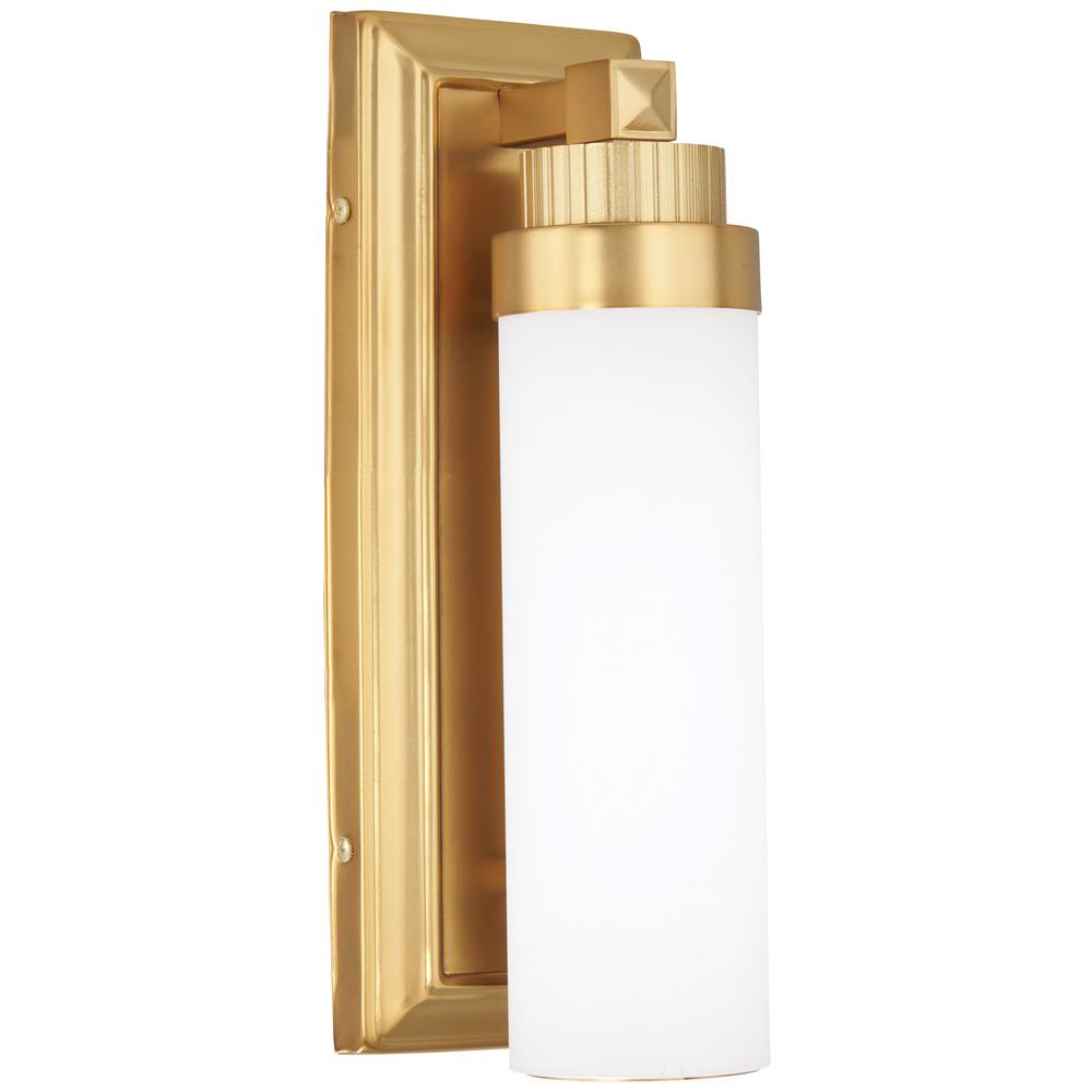 Minka Lavery 60-Watt Equivalence Liberty Gold Integrated LED Sconce