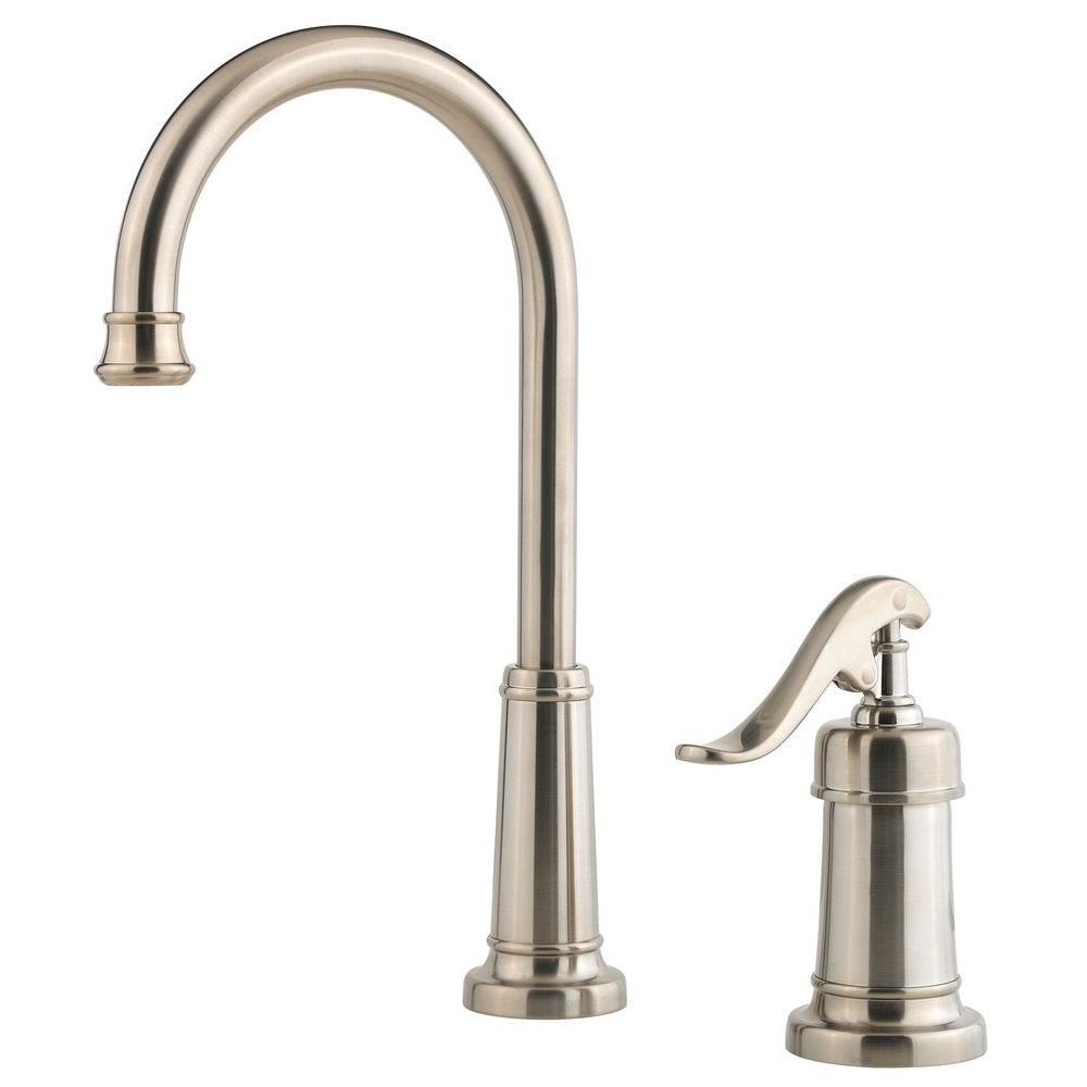 Ashfield Single-Handle High-Arc Bar Faucet in Brushed Nickel