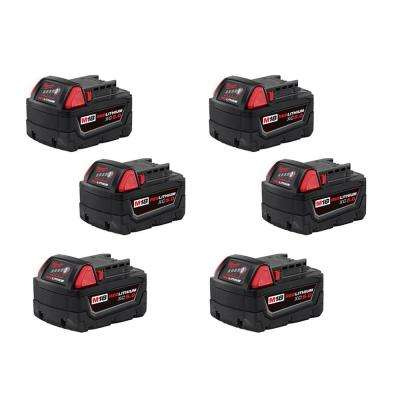 M18 18-Volt Lithium-Ion XC Extended Capacity Battery Pack 5.0Ah (6-Pack)