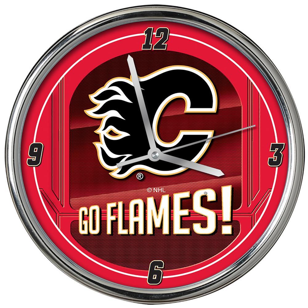 The Memory Company Nhl Go Team Chrome Flames Clock Nhl Cfl 1739 The Home Depot