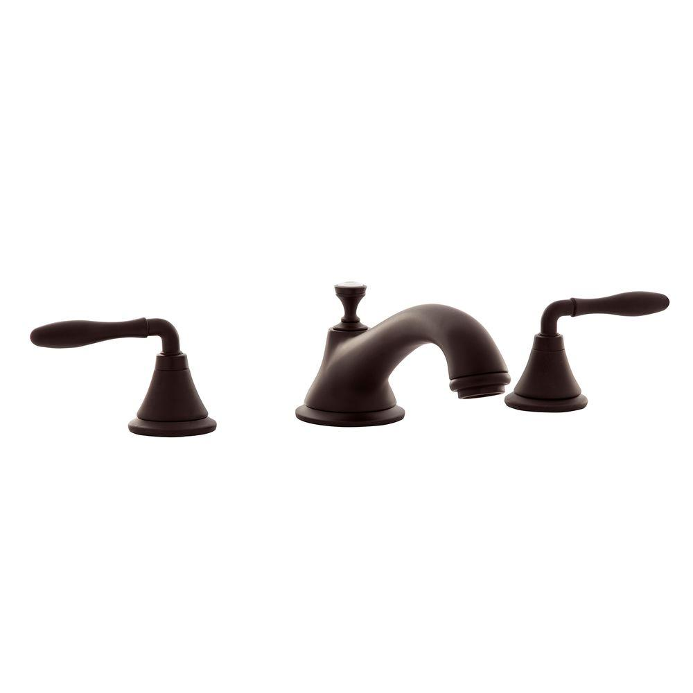 grohe seabury 2 handle deck mount roman tub faucet in oil rubbed bronze 25055zb0 the home depot. Black Bedroom Furniture Sets. Home Design Ideas