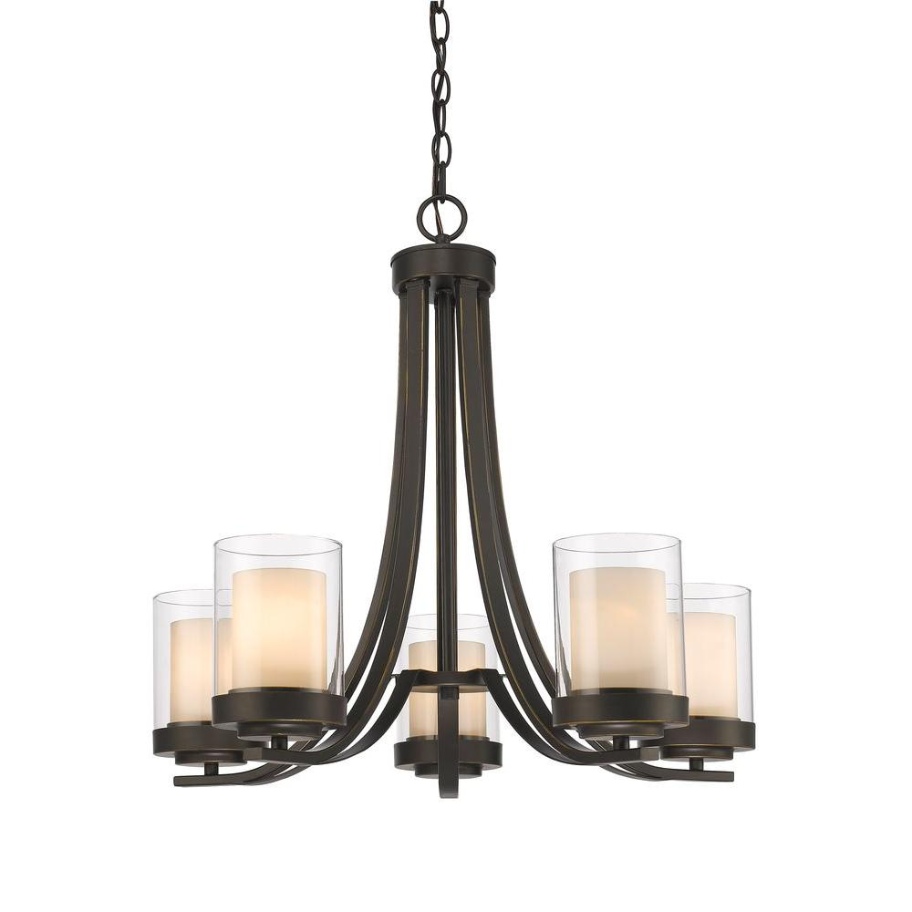 Wesson 5-Light Olde Bronze Chandelier