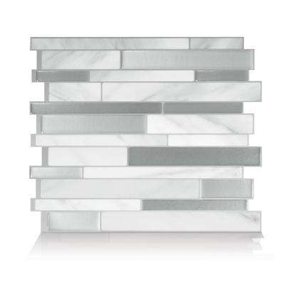 Milano Carrera 11.55 in. W x 9.65 in. H Peel and Stick Self-Adhesive Decorative Mosaic Wall Tile Backsplash (12-Pack)