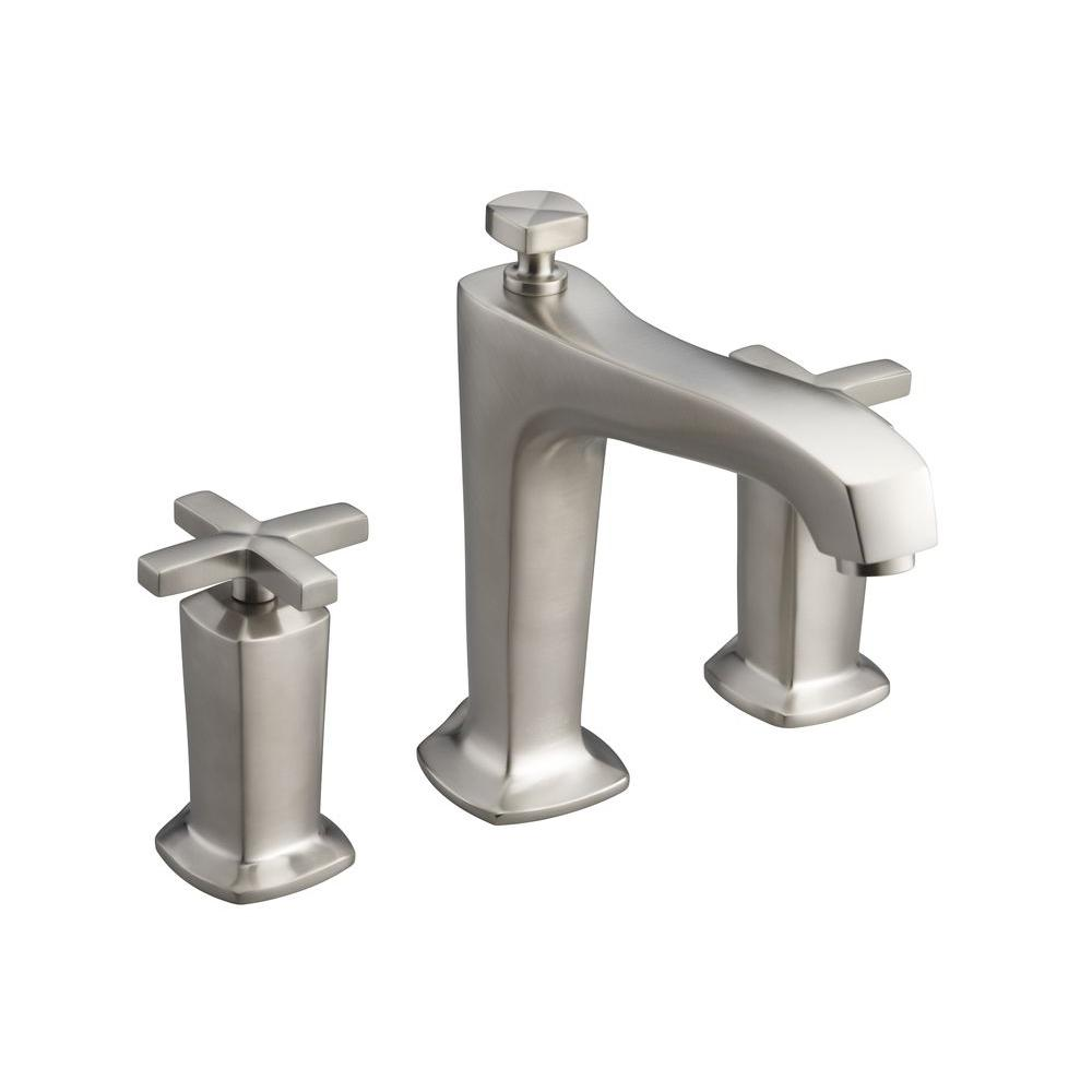 Margaux Deck-Mount High-Flow Bathroom Faucet Trim Kit with Cross Handles in