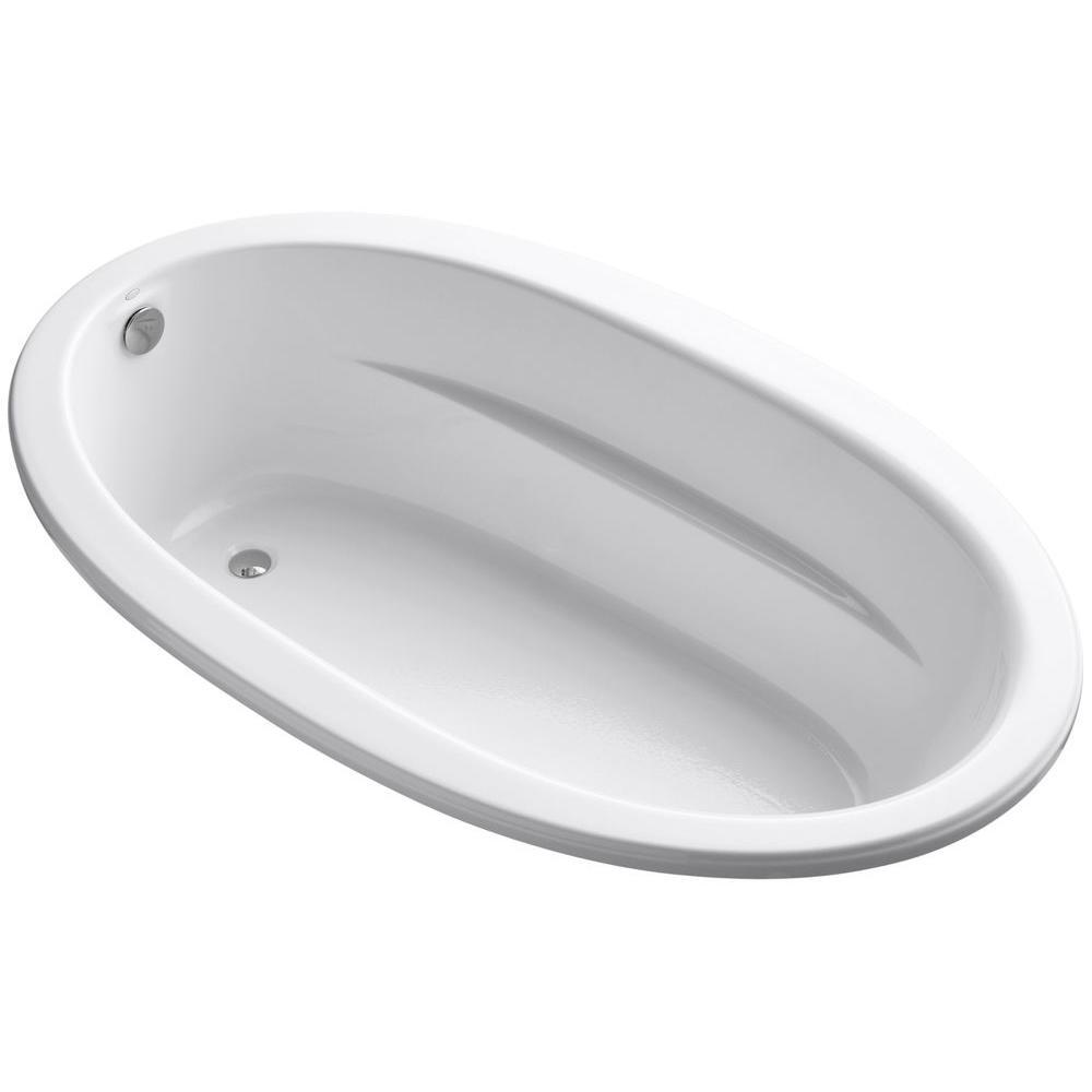 KOHLER Sunward 6 ft. Reversible Drain Soaking Tub in White