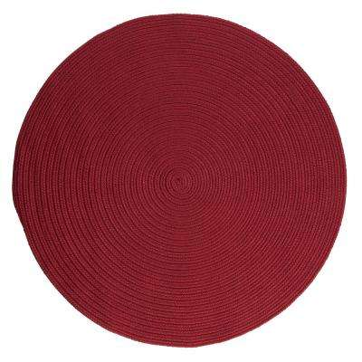 Trends Red 4 ft. x 4 ft. Braided Round Area Rug
