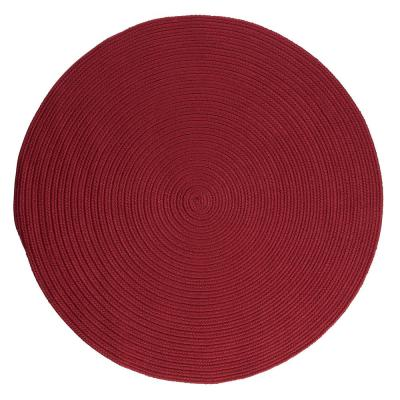 Trends Red 6 ft. x 6 ft. Round Braided Area Rug