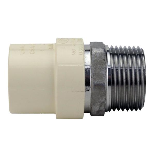 1 in. x 1 in. CPVC CTS Slip Stainless Steel MPT Adapter