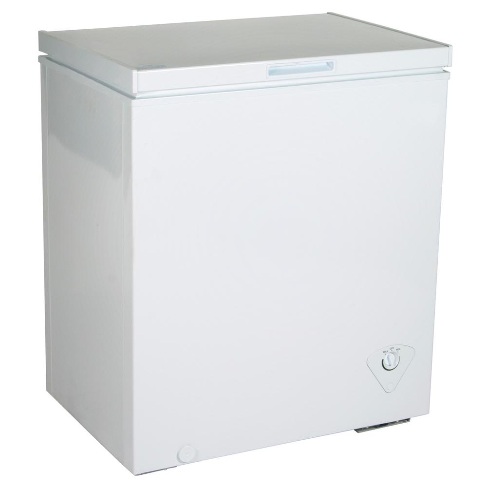 Koolatron Kool 5 5 Cu Ft Chest Freezer In White Ktcf155