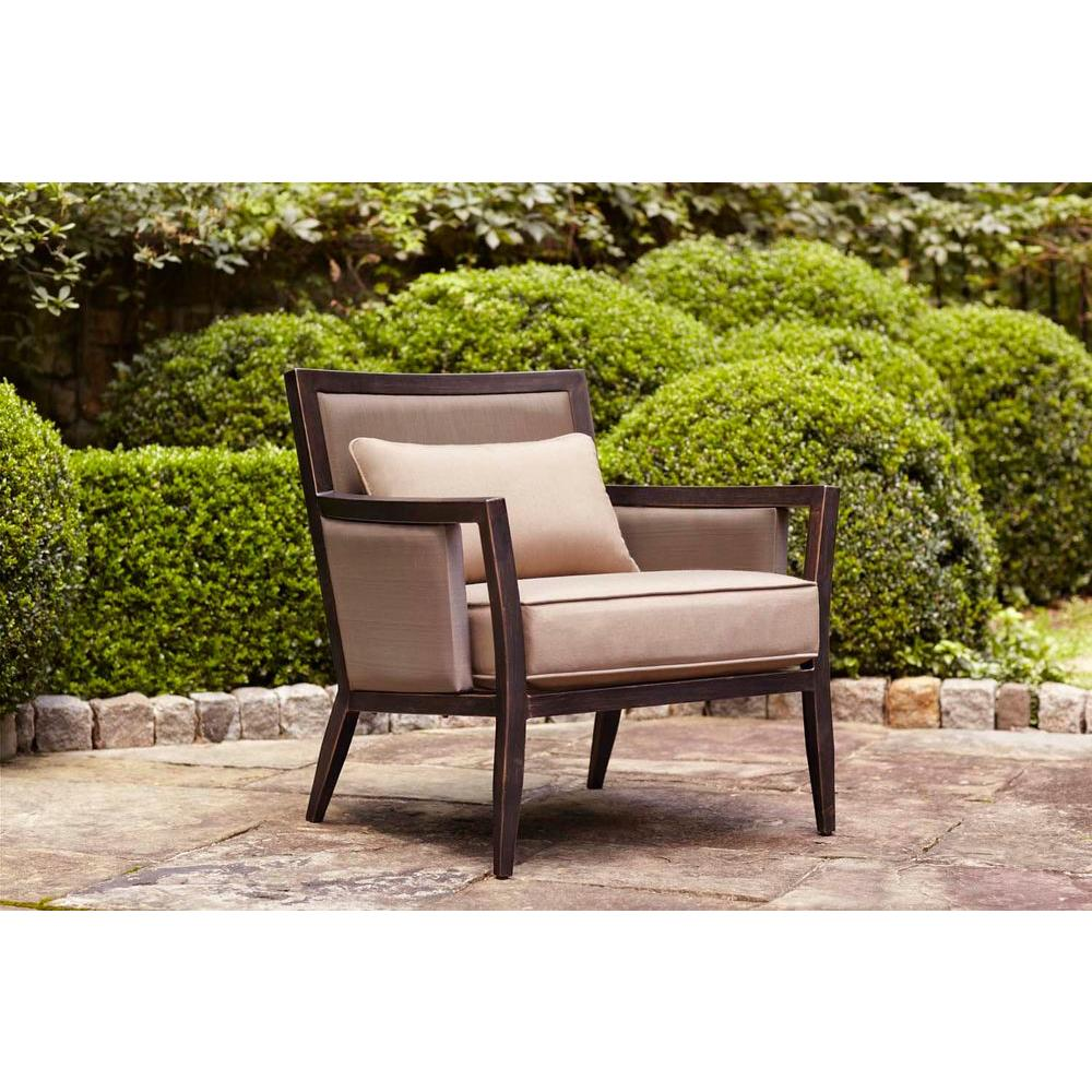 Brown Jordan Greystone Patio Lounge Chair with Sparrow Cushions -- STOCK