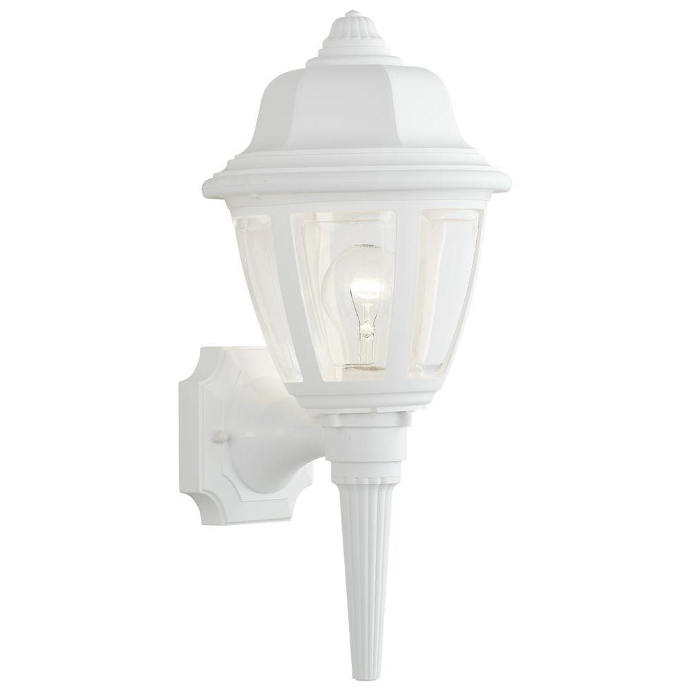 Thomas Lighting 1-Light Matte White Outdoor Wall-Mount Lantern