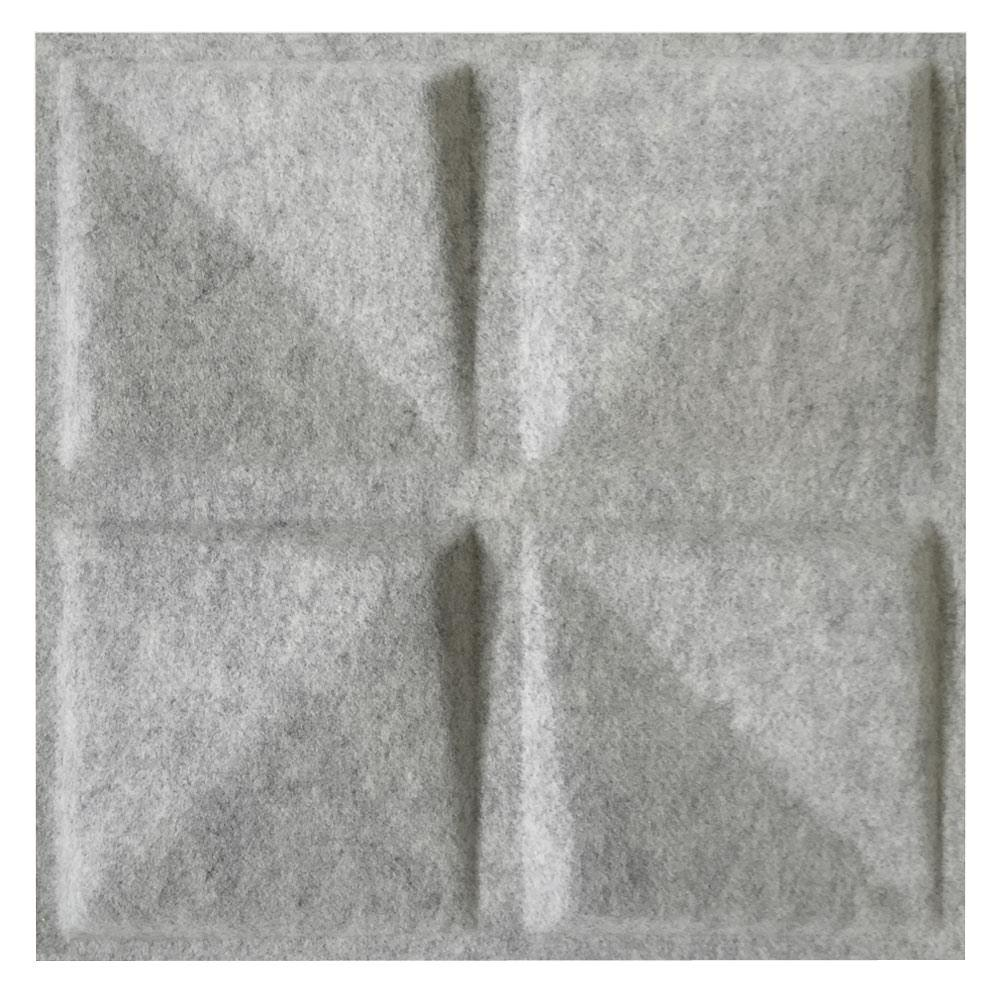 MIO FeltForms 24 in. W x 24 in. L x 2 in. H White Acoustic Insulation Quad Panels (4-Pack)