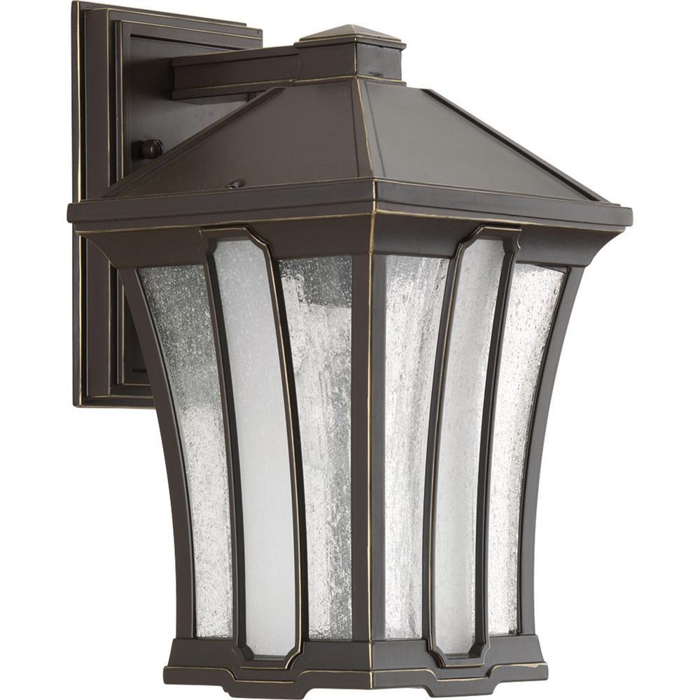 Twain Collection 1-Light Outdoor Antique Bronze Wall Lantern