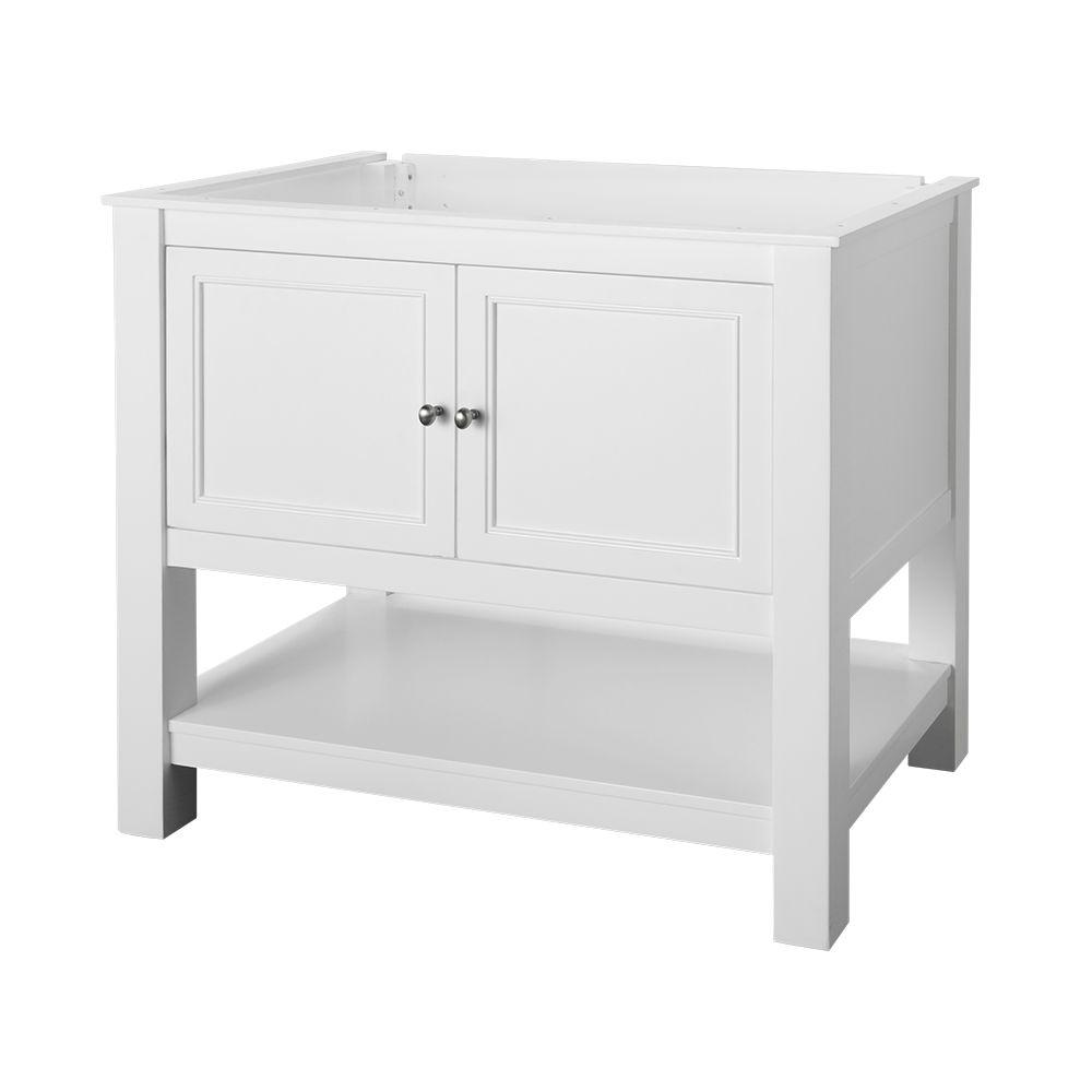 Home Decorators Collection Gazette 36 in. W Bath Vanity Cabinet Only in White was $499.0 now $299.4 (40.0% off)