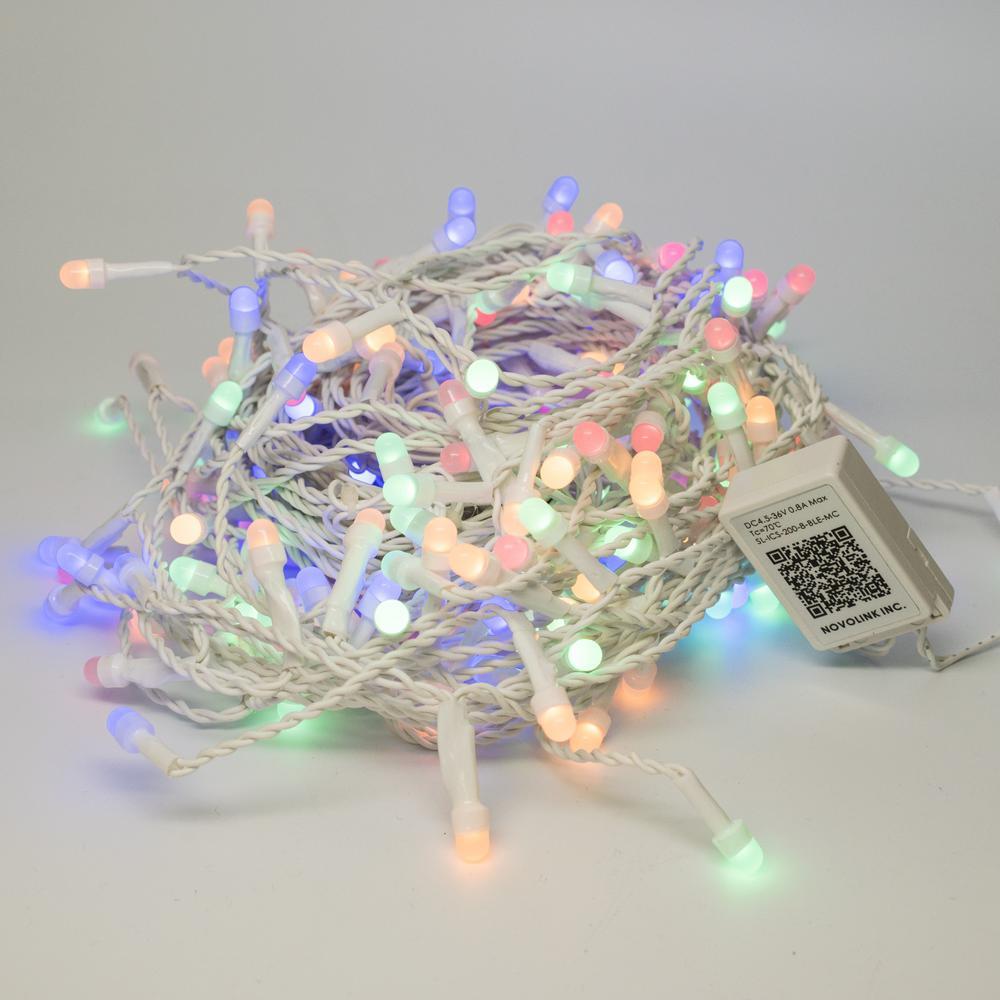 Bundle - 200 Light 8 mm Mini Globe Multi-Color Icicle LED