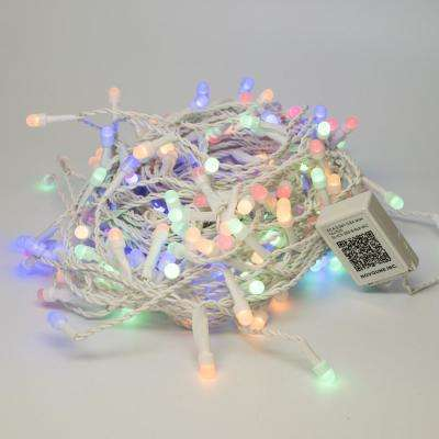 Bundle - 200 Light 8 mm Mini Globe Multi-Color Icicle LED String Light with Wireless Smart Control + 200 Light Add-on