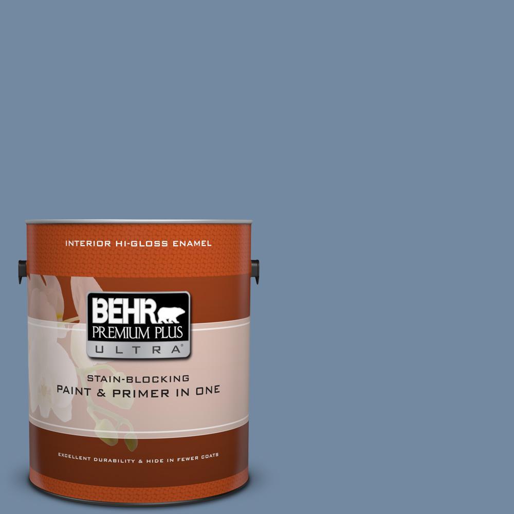 BEHR Premium Plus Ultra 1 gal. #PPU15-9 Hilo Bay Hi-Gloss...