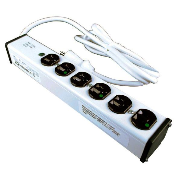 Wiremold 6-Outlet 20 Amp Medical Grade Power Strip, 6 ft. Cord