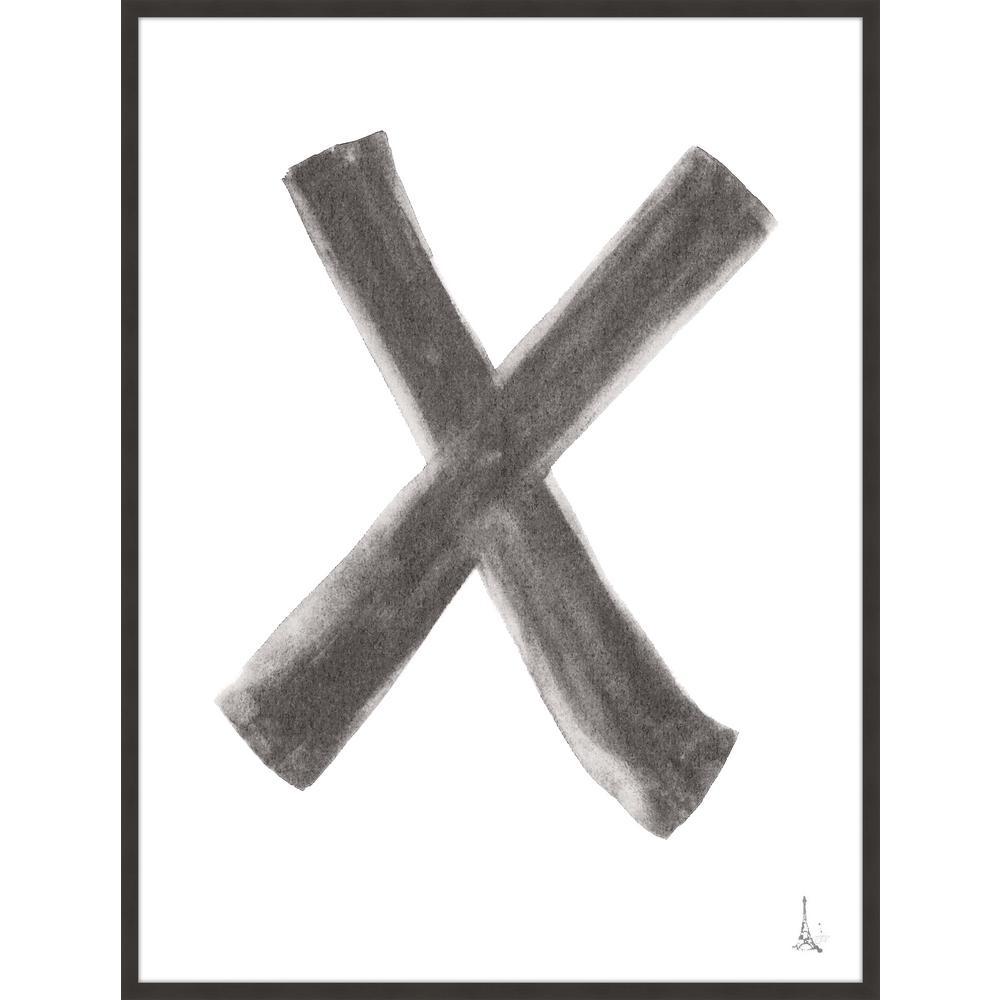 "44 in. x 60 in. ""X"" Framed Giclee Print Wall Art"