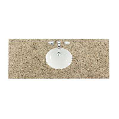 60 in. W Granite Single Basin Vanity Top in Santa Cecilia