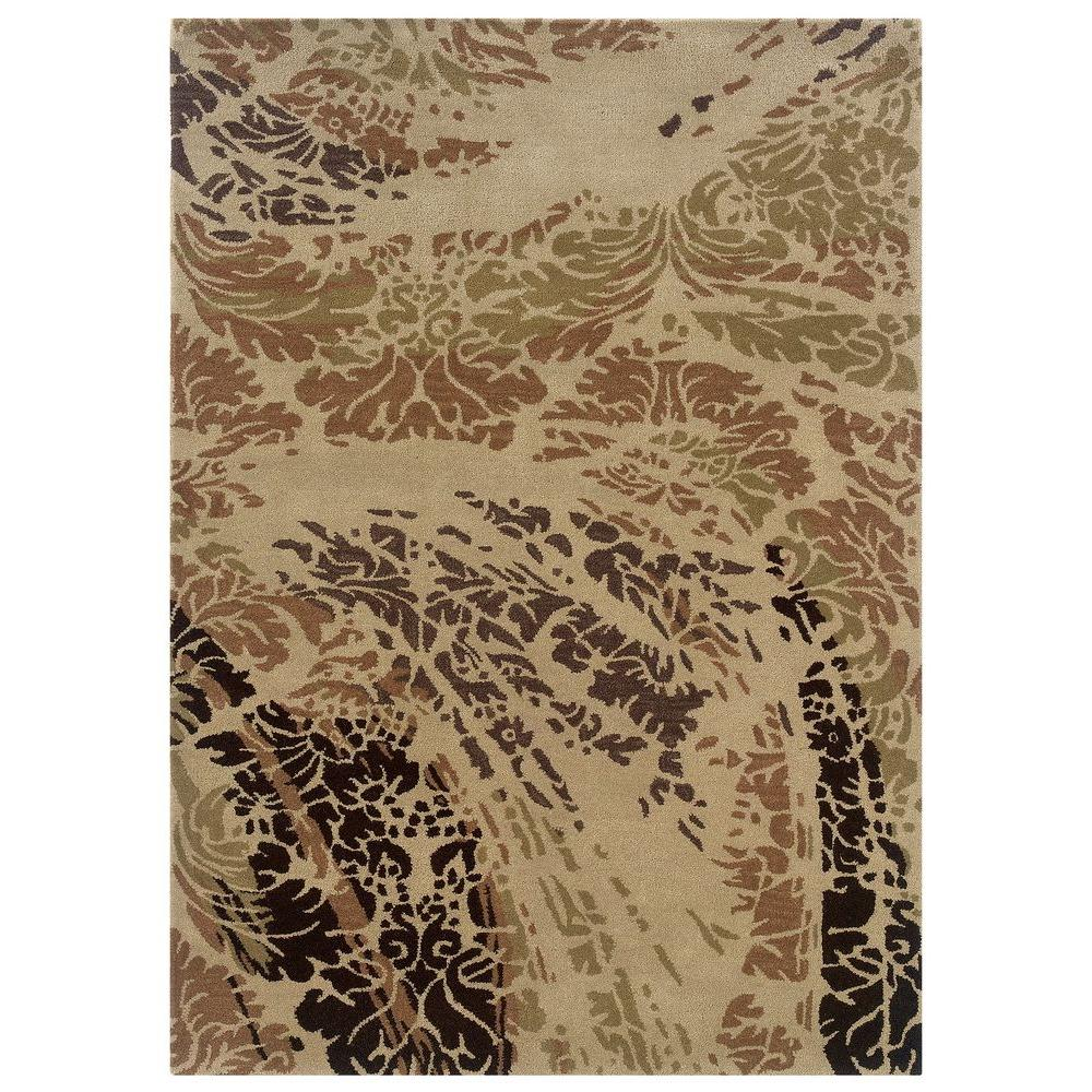 Linon home decor florence collection beige and brown 5 ft - Decorating with area rugs ...