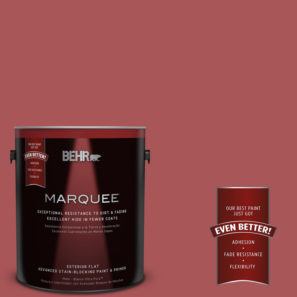 BEHR MARQUEE 1-gal. #M150-6 Lingonberry Punch Flat Exterior Paint