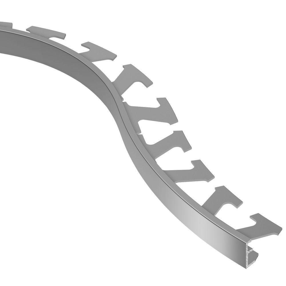 Schiene Aluminum 3/8 in. x 8 ft. 2-1/2 in. Metal Radius Tile Edging Trim