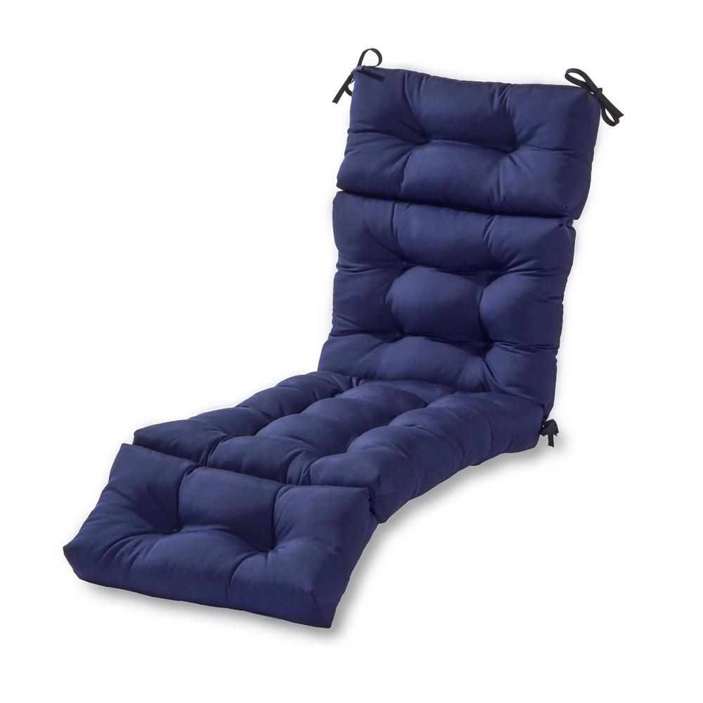 Greendale Home Fashions Solid Navy Outdoor Chaise Lounge