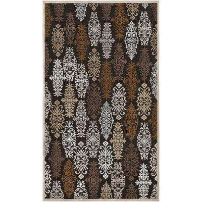 Cynthia Chocolate Viscose and Chenille 4 ft. x 6 ft. Area Rug