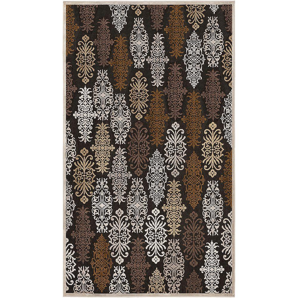 Artistic Weavers Cynthia Chocolate Viscose and Chenille 5 ft. 1 in. x 7 ft. 6 in. Area Rug