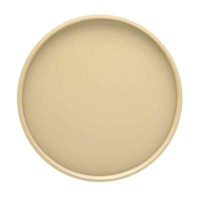 Bartenders Choice Fun Colors 14 in. Round Serving Tray in Ivory